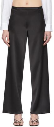 CHRISTOPHER ESBER Black Bias Satin Trousers