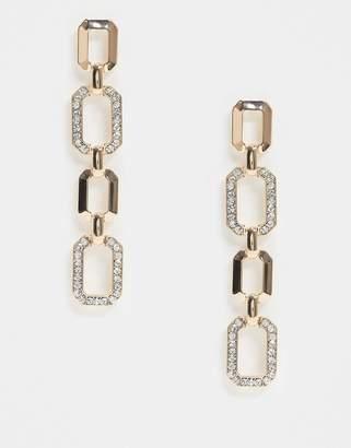 Aldo Goorna rhinestone drop earrings in gold
