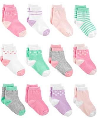 Carter's Simple Joys by Girls' 12-Pack Socks