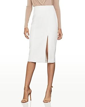 BCBGMAXAZRIA Side-Slit Crepe Pencil Skirt