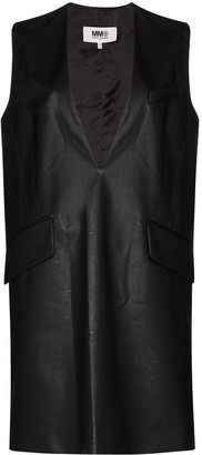 MM6 MAISON MARGIELA Plunge-Neck Mini Dress