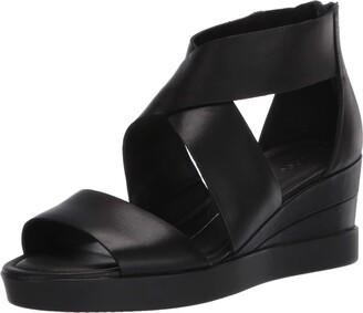 Ecco Women's Elevate Wedge Sandal Black 37 (US Women's 6-6.5) M