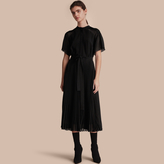 Burberry Pleated Silk Dress