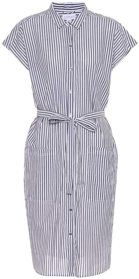 Velvet Sonay striped cotton shirt dress