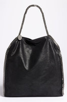Stella McCartney 'Large Falabella - Shaggy Deer' Faux Leather Tote - Black