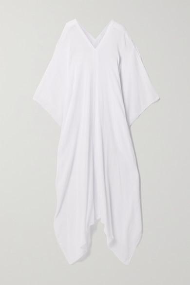 Thumbnail for your product : CARAVANA + Net Sustain Koyok Frayed Cotton-gauze Kaftan - White