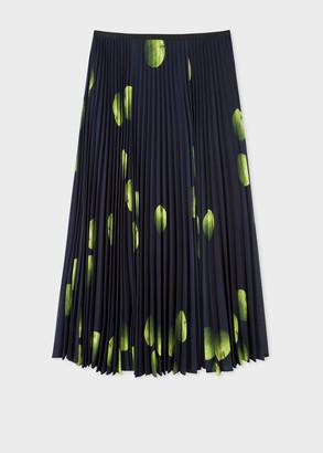 Paul Smith Women's 'Green Apple' Print Pleated Skirt