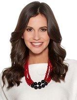 M&Co Colour block beaded necklace