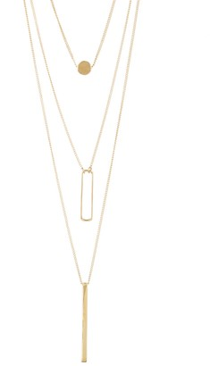 Sterling Forever Triple-Layer Pendant Necklace