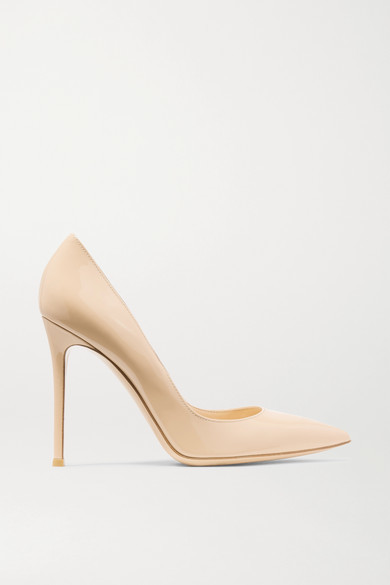 Gianvito Rossi 105 Patent-leather Pumps - Neutral