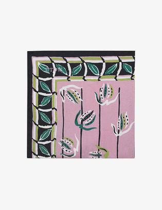 Eton Floral-print silk pocket square