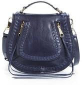 Rebecca Minkoff Small Vanity Leather Saddle Bag - Blue