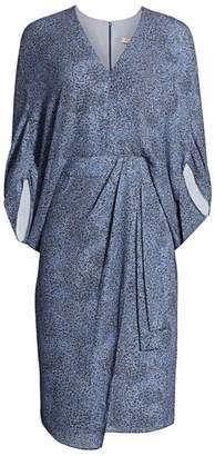 Halston Draped Sleeve Dress