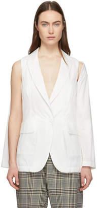MM6 MAISON MARGIELA Off-White Convertible Open Sleeve Blazer