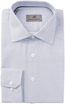 JB Britches Long Sleeve Trim Fit Medallion Printed Dress Shirt