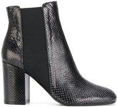 Pollini snakeskin effect Chelsea boots