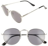 A. J. Morgan Women's A.j. Morgan Bradley 50Mm Retro Sunglasses - Matte Silver