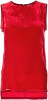P.A.R.O.S.H. velvet sleeveless top