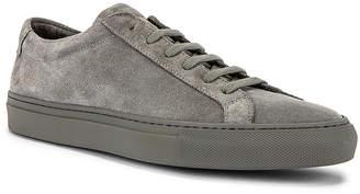 Common Projects Original Achilles Suede Low Sneaker in Cobalt Grey   FWRD