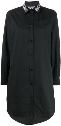 Moschino Embroidered Logo Shirt Dress