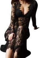Tenworld Women's Sexy Lace Babydoll Nightwear Long Gown Lingerie Maxi Dress
