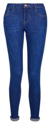 Dorothy Perkins Womens Bright Blue 'Harper' Low Rise Stretch Skinny Jeans, Blue
