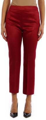 Max Mara Red Shiny Trousers
