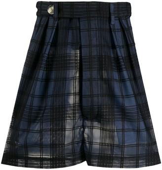 Marco De Vincenzo check A-line mini skirt