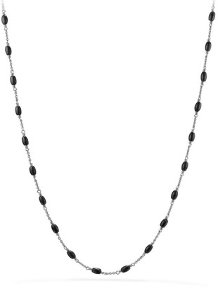 David Yurman Beaded Sterling Silver Necklace