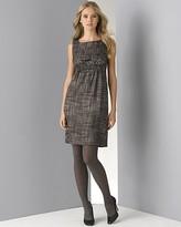DKNY Women's Silk Twill Tweed Printed Sheath Dress