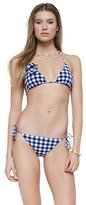 Gingham Style Triangle Bra Top