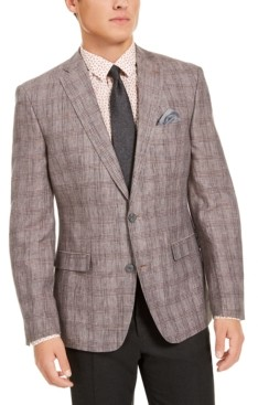 Bar III Men's Slim-Fit Plaid Sport Coat, Created for Macy's