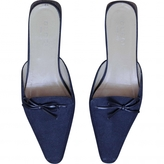 Gucci Navy Mules Clogs