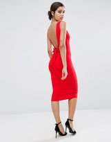 Asos Bow Back Midi Bodycon Pencil Dress