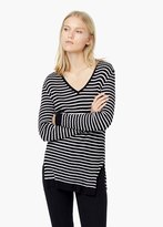 Mango Outlet Striped Rib Sweater
