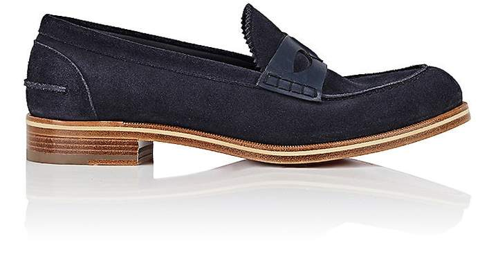 Christian Louboutin Men's Montezumolle Suede & Leather Penny Loafers