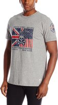 Psycho Bunny Men's Anniversary Flag T-Shirt, Grey Heather, 8/XX-Large