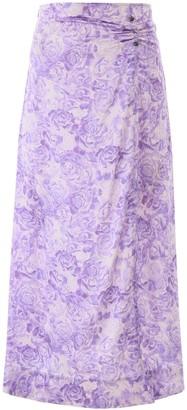 Ganni Floral Pinned Maxi Skirt