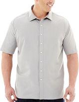 Claiborne Short-Sleeve Woven Shirt-Big & Tall