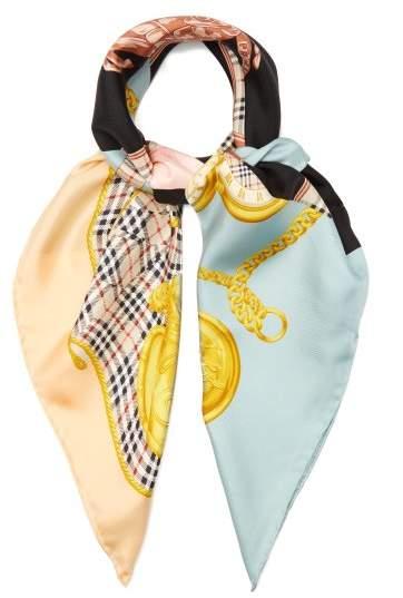 Burberry Vintage Print Silk Scarf - Womens - Multi