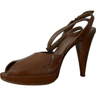 A.F.Vandevorst Brown Patent leather Sandals