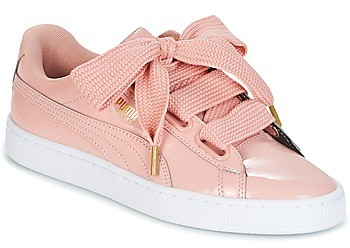 meet 890b5 11e19 BASKET HEART PATENT W'S women's Shoes (Trainers) in Pink