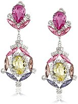 Kenneth Jay Lane Multi-Pastel Drop Clip-On Earrings