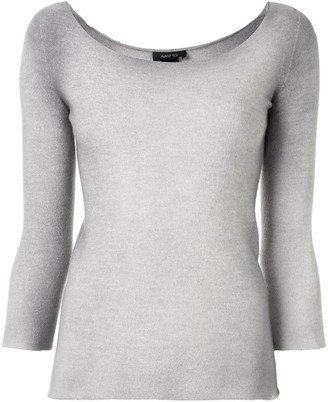 Avant Toi Washed Wide-Neck Top