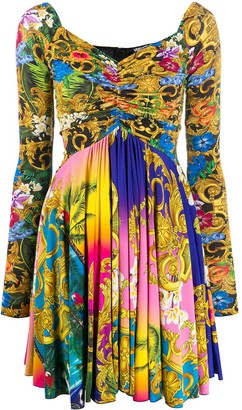 Versace Filigree Print Dress