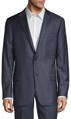 Hickey Freeman Standard-Fit Plaid Wool Blazer