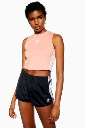 adidas Womens Pink Cropped T-Shirt By Purple