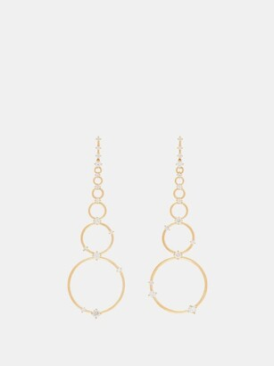Fernando Jorge Aerial Loops Diamond & 18kt Gold Drop Earrings - Womens - Gold