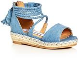 Steve Madden Girls' Denim Espadrille Platform Wedge Sandals