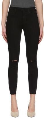 Frame Black Le Skinny Crop Jeans